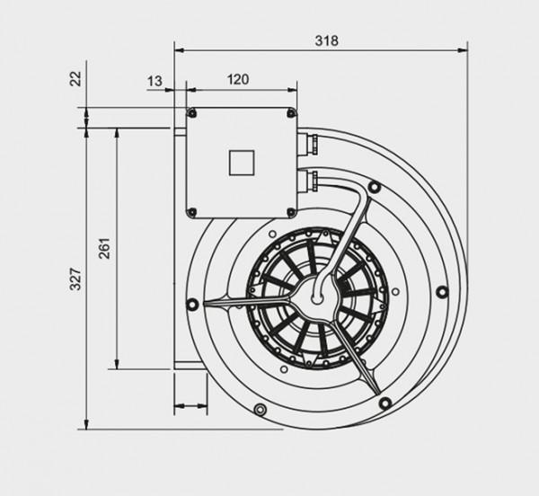 Motor f. Abzugshauben, VE 9/9T