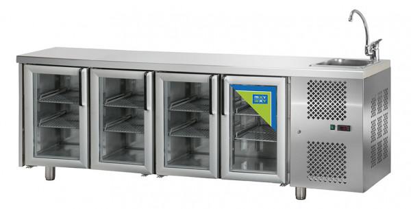 Kühltisch, KT 04 MID PVL, 4T Glas